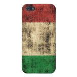 Bandera del italiano del Grunge iPhone 5 Carcasa