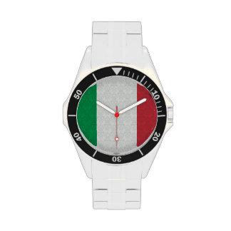 Bandera del italiano del modelo del damasco reloj de mano