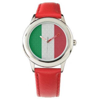 Bandera del italiano del modelo del damasco reloj