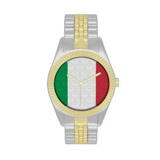 Bandera del italiano del modelo del damasco relojes de mano