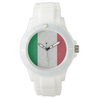 Bandera del italiano del modelo del damasco relojes