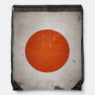 Bandera del japonés de Japón del Grunge del vintag Mochilas