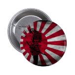 Bandera del japonés del samurai pins