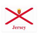 Bandera del jersey con nombre tarjeta postal