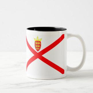 Bandera del jersey tazas de café