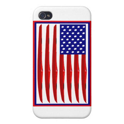 Bandera del kajak de los E.E.U.U. iPhone 4 Coberturas