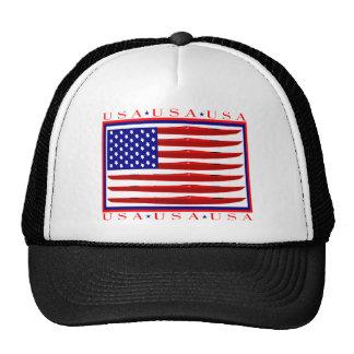 Bandera del kajak de los E.E.U.U. Gorra