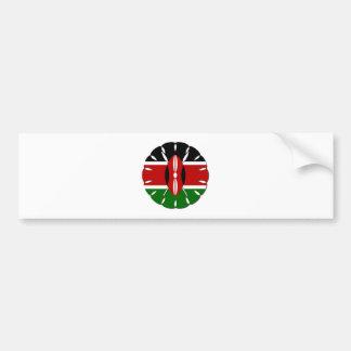 Bandera del Kenyan de Jambo Pegatina Para Auto