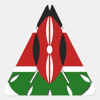 Bandera del Kenyan de Jambo Pegatina Triangular