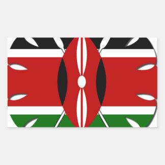 Bandera del Kenyan de Jambo Pegatina Rectangular