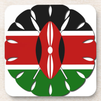 Bandera del Kenyan de Jambo Posavasos