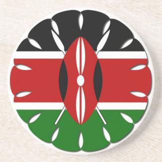 Bandera del Kenyan de Jambo Posavasos Manualidades