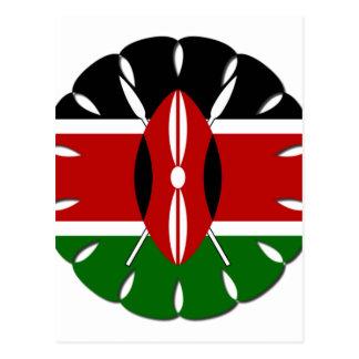 Bandera del Kenyan de Jambo Tarjetas Postales
