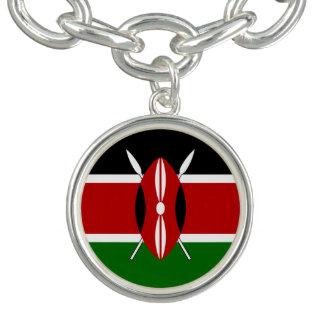 Bandera del Kenyan Pulseras