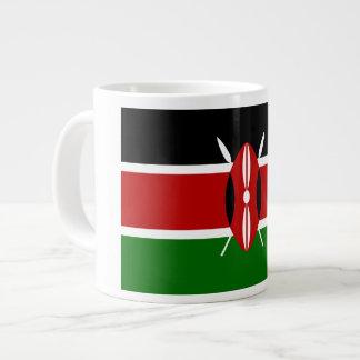 Bandera del Kenyan Tazas Extra Grande