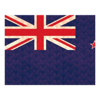 Bandera del kiwi del modelo del vintage tarjetón