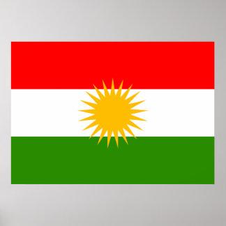 Bandera del Kurdistan Impresiones