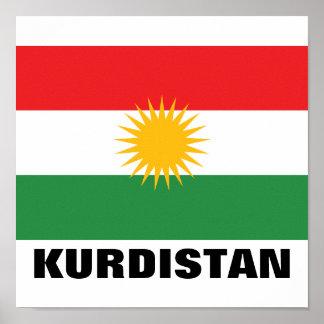 Bandera del Kurdistan Posters