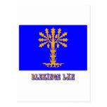 Bandera del län de Blekinge con nombre Tarjeta Postal