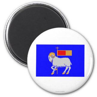 Bandera del län de Gotlands Iman Para Frigorífico