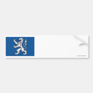 Bandera del län de Hallands Etiqueta De Parachoque