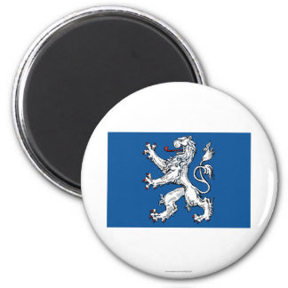 Bandera del län de Hallands Imán Redondo 5 Cm