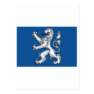 Bandera del län de Hallands Tarjeta Postal