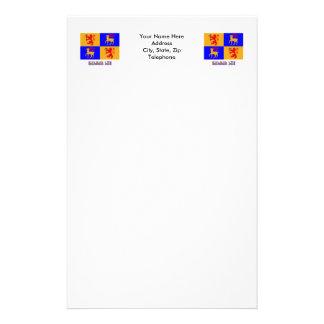 Bandera del län de Kalmar con nombre Papelería Personalizada
