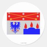Bandera del län de Örebro Pegatina Redonda