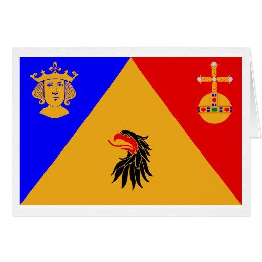 Bandera del län de Stockholms Tarjeta De Felicitación