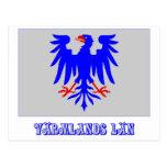 Bandera del län de Värmlands con nombre Postal