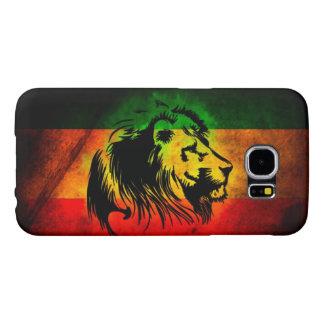 bandera del león del reggae del rasta funda samsung galaxy s6