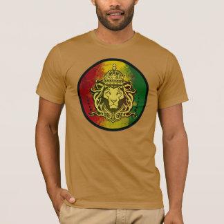 bandera del león del reggae del rasta playera