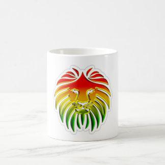 bandera del león del reggae del rasta taza