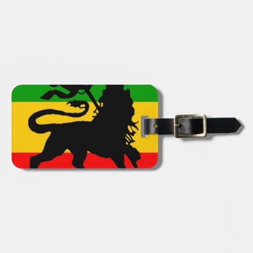 Bandera del león etiqueta de equipaje