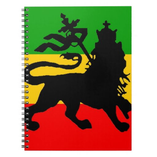 Bandera del león libreta espiral