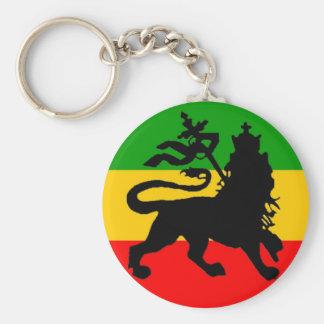 Bandera del león llavero redondo tipo pin