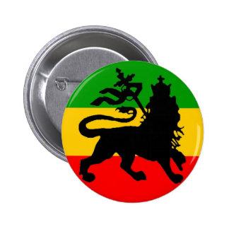 Bandera del león pin redondo de 2 pulgadas