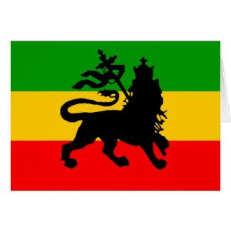 Bandera del león tarjeta de felicitación