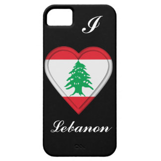 Bandera del libanés de Líbano iPhone 5 Carcasas