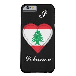 Bandera del libanés de Líbano Funda De iPhone 6 Barely There