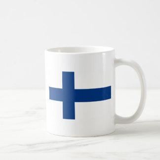 Bandera del lippu de Finlandia - de Suomen - Taza