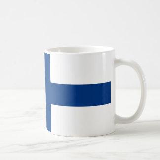 Bandera del lippu de Finlandia - de Suomen - Taza Clásica