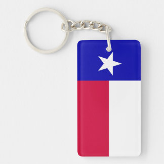 Bandera del llavero de acrílico de Tejas (escoja e