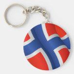 Bandera del llavero de Noruega