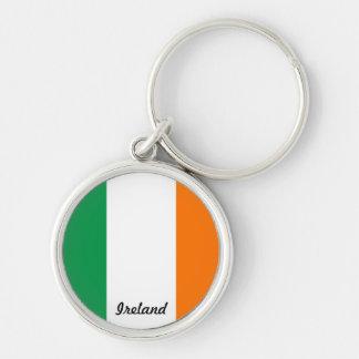 Bandera del llavero redondo de Irlanda