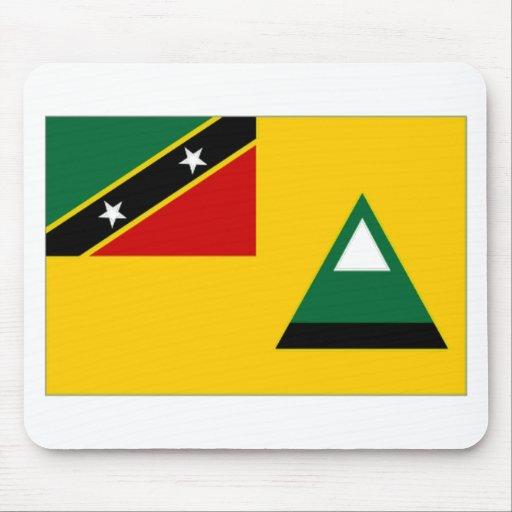 Bandera del Local del St San Cristobal Nevis Tapetes De Raton