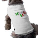 Bandera del logotipo de Italia del escudo de Itali Playera Sin Mangas Para Perro