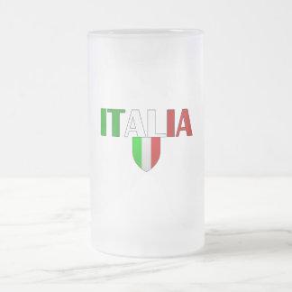 Bandera del logotipo de Italia del escudo de Itali Taza De Café