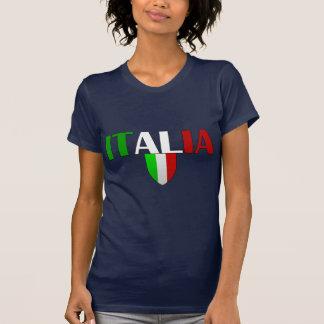 Bandera del logotipo de Italia del escudo de Tshirts
